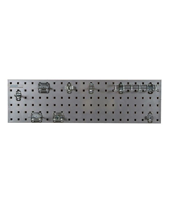 Triton Products Locboard Tool Storage Kit with 1 Gauge Steel Square Hole Pegboard and 8 Piece Lochook Assortment