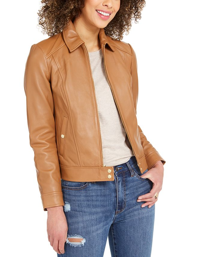 Cole Haan - Faux-Leather Moto Jacket