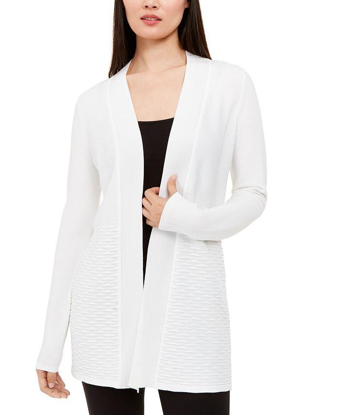 Alfani - Textured Open-Front Cardigan