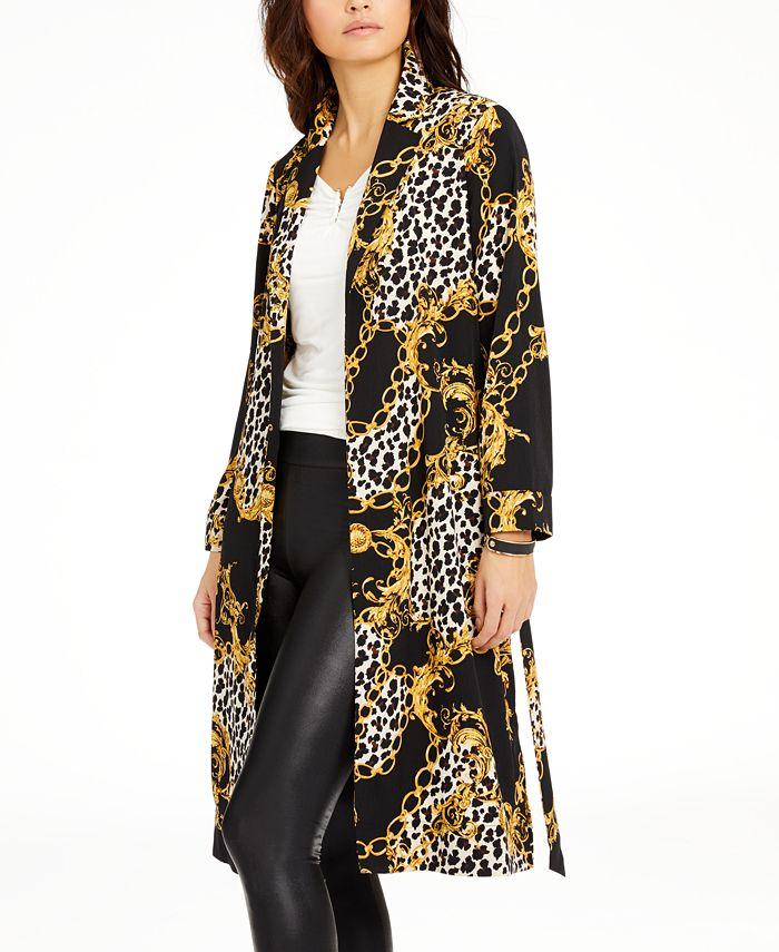 Thalia Sodi - Floral-Print Duster Jacket