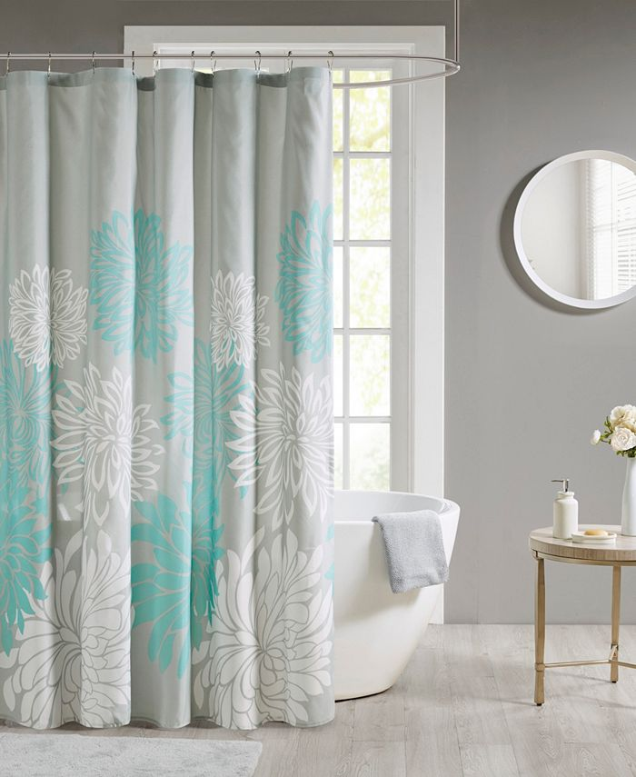 Madison Park - Maible Printed Floral Shower Curtain
