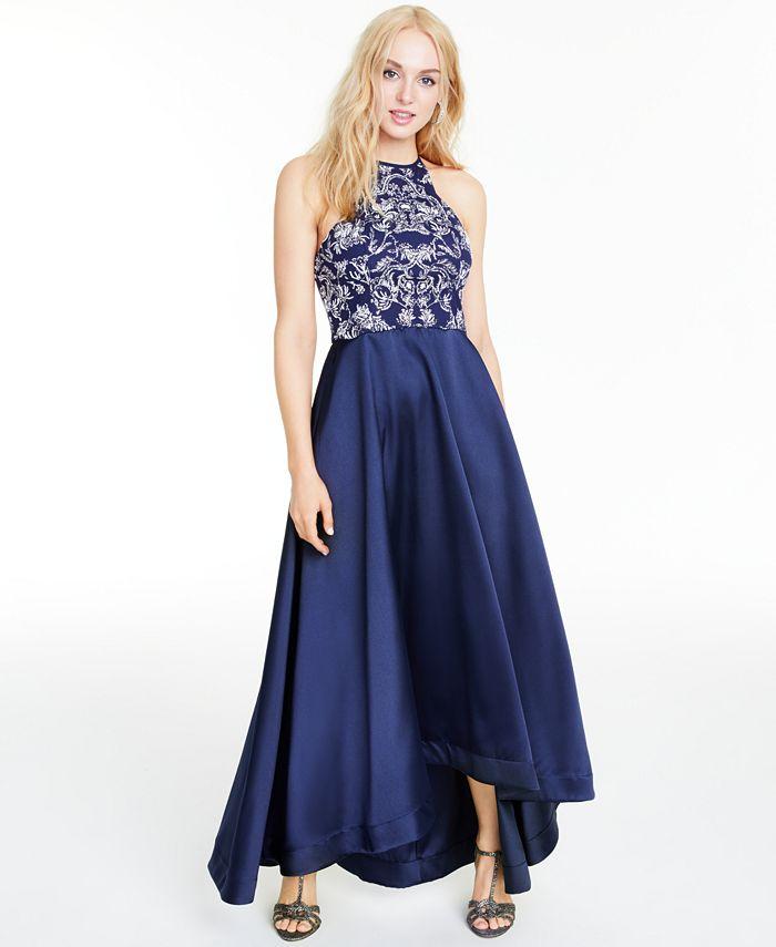 Speechless - Juniors' Glitter Halter High-Low Dress