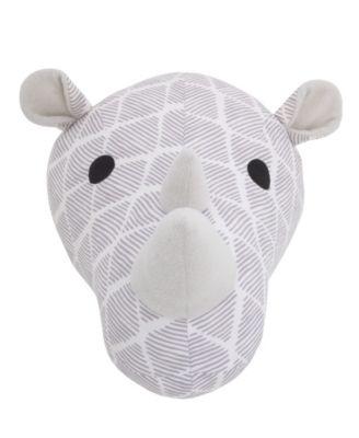 Rhino Plush Head Wall Décor