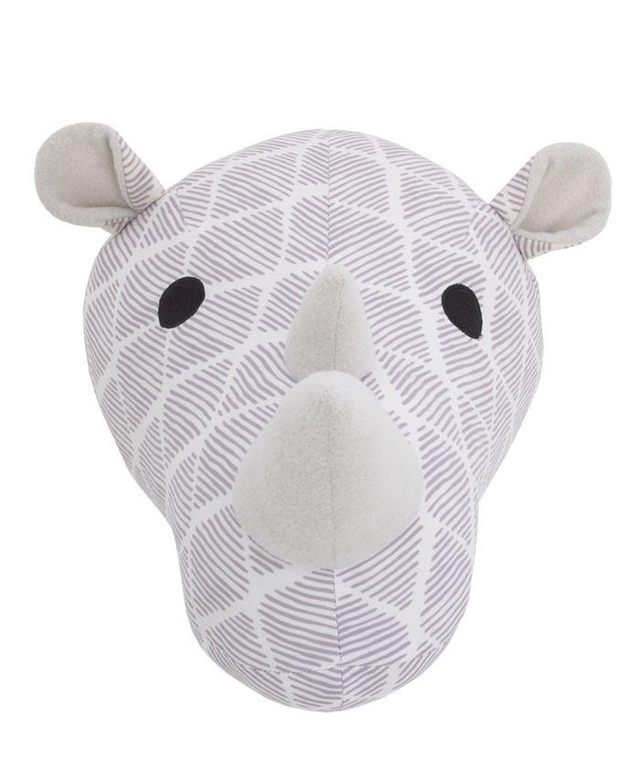 NoJo - Rhino Plush Head Wall Décor