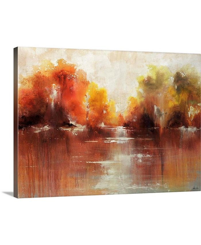 """GreatBigCanvas - 24 in. x 18 in. """"Jeweled Water"""" by  Sydney Edmunds Canvas Wall Art"""