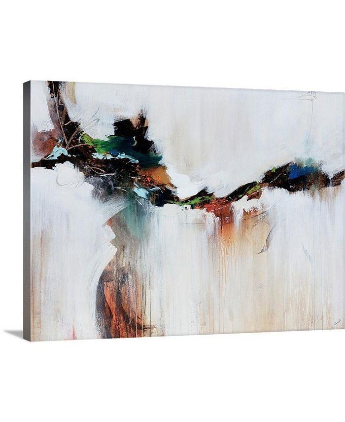 "GreatBigCanvas - 40 in. x 30 in. ""Azure Jazz"" by  Sydney Edmunds Canvas Wall Art"