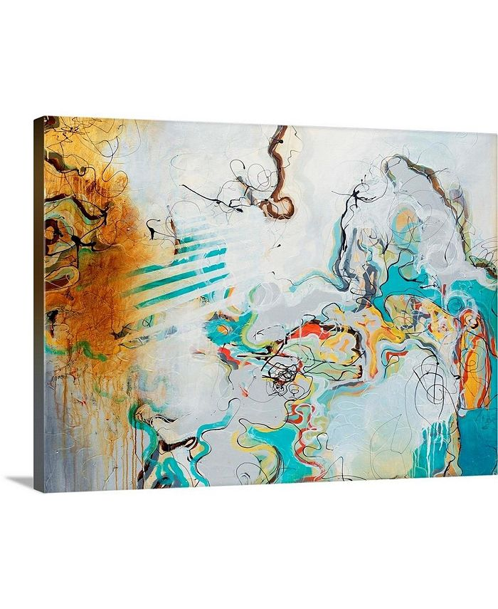 "GreatBigCanvas - 40 in. x 30 in. ""Playful Banter"" by  Rikki Drotar Canvas Wall Art"