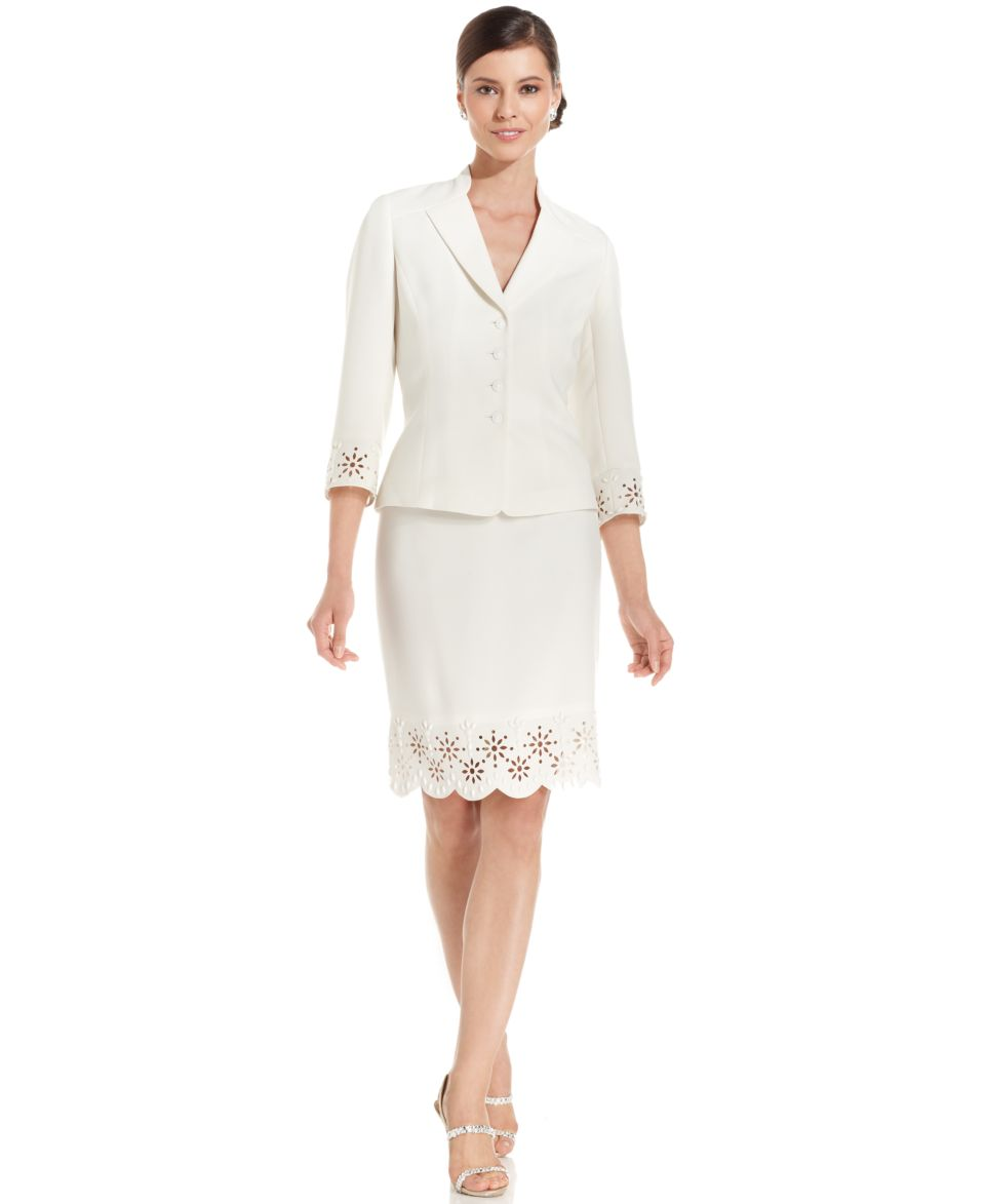 Plus Size Suits & Suit Separates Finding feminine and fashionable workwear just got a whole lot easier with Belk's assortment of plus size suits for women. Belk's collection of suits are lean and figure flattering - so say goodbye to baggy separates.