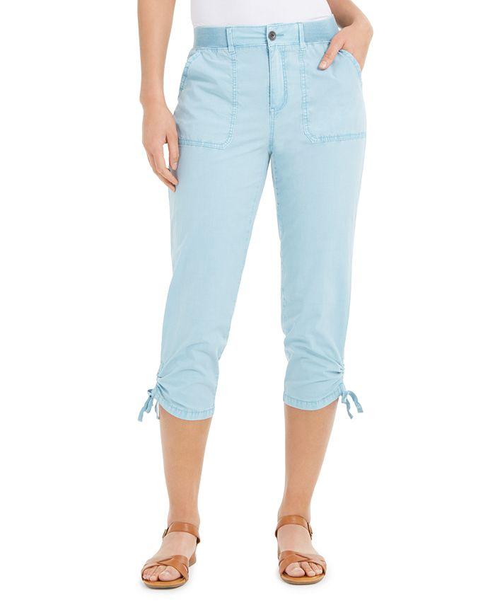 Style Co Tie Hem Capri Pants Created For Macy S Reviews Pants Leggings Women Macy S