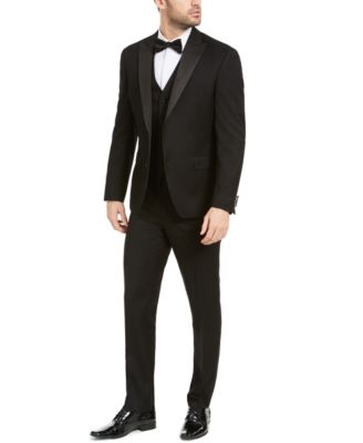 Men's Slim-Fit Stretch Black Tuxedo Vest, Created for Macy's