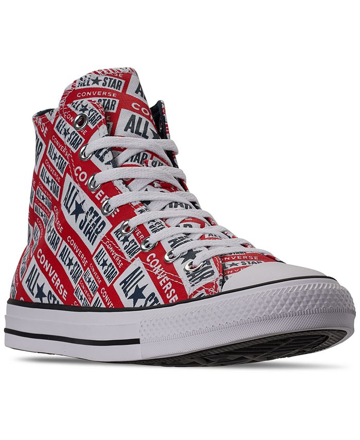 Converse - Men's Chuck Taylor All Star Logo Graphic High Top Casual Sneakers from Finish Line