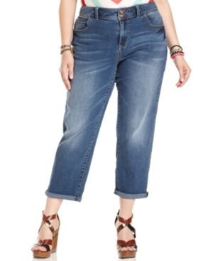 American Rag Plus Size Cuffed Boyfriend Jeans, Alexandra Wash