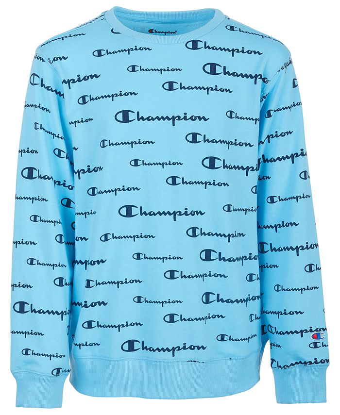 Champion - Big Boys Script Logo French Terry Sweatshirt