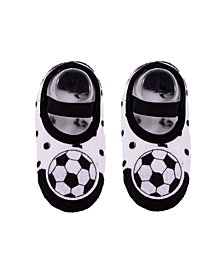 Nwalks Baby Boys and Girls Anti-Slip Cotton Socks with Soccer Applique