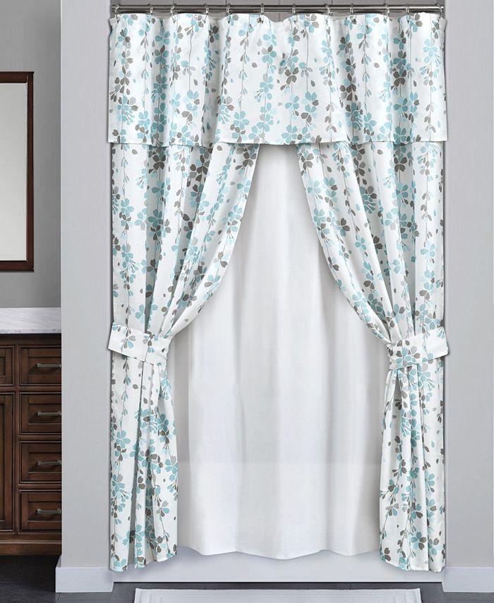 Lush Décor - Weeping Flora 16Pc Shower Curtain Set