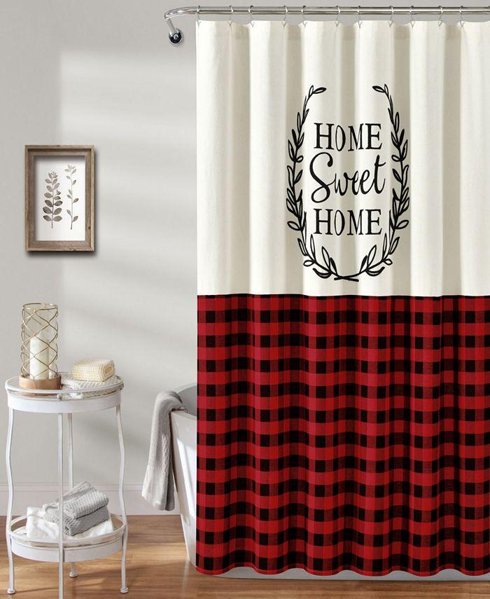 """Lush Décor - Home Sweet Home Wreath 72"""" x 72"""" Shower Curtain"""