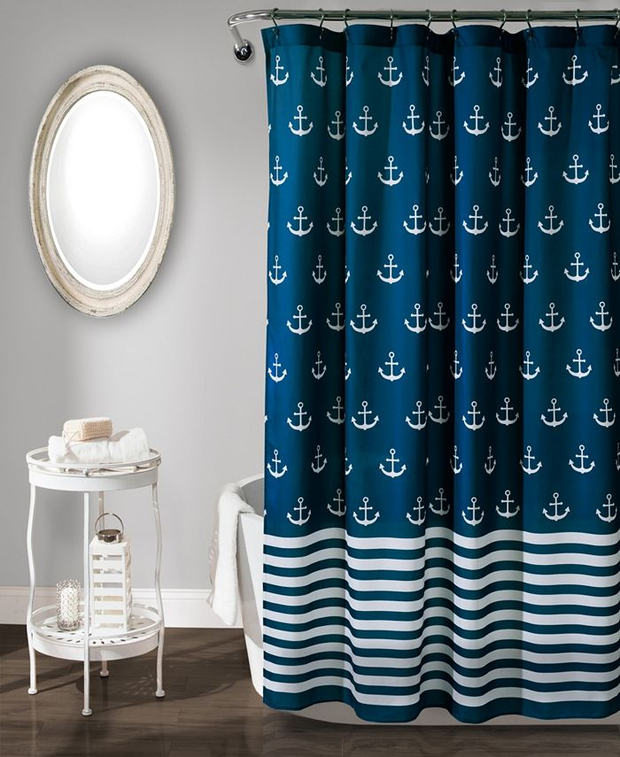 "Lush Décor - Anchor 72"" x 72"" Shower Curtain"