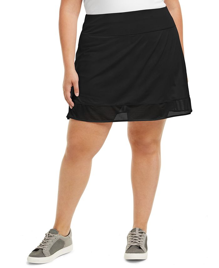 Ideology - Plus Size Shadow-Stripe Skort