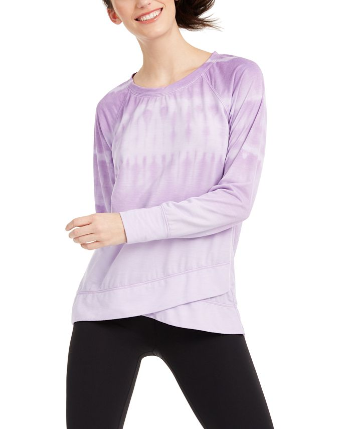 Ideology - Tie-Dyed Crossover-Hem Top