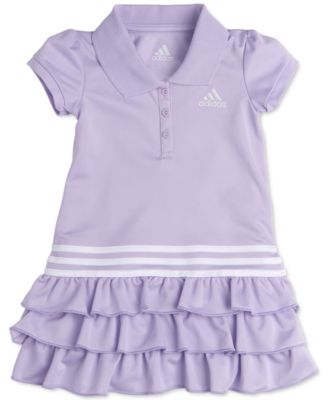 adidas Baby Girls Tiered Ruffle Polo