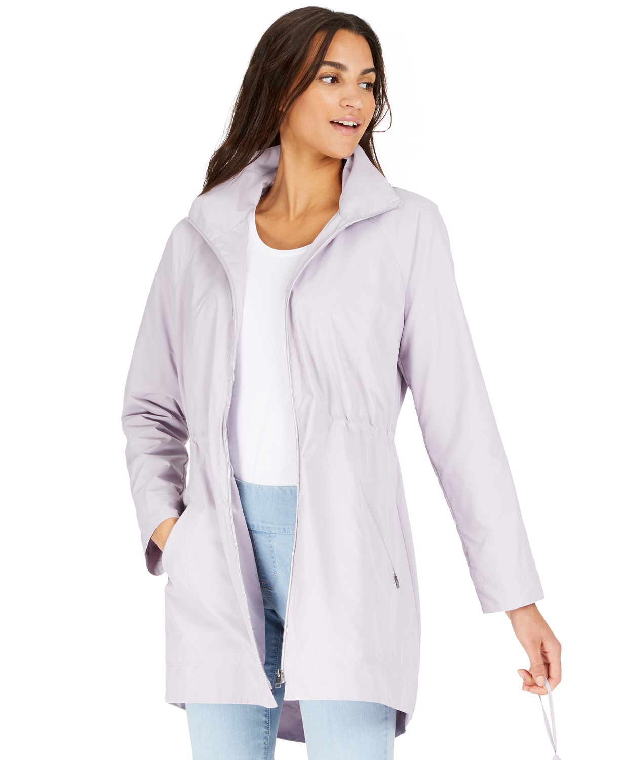 Style & Co Womens Packable Hooded Anorak Jacket