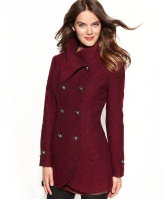 tommy hilfiger red pea coat – Maskbook
