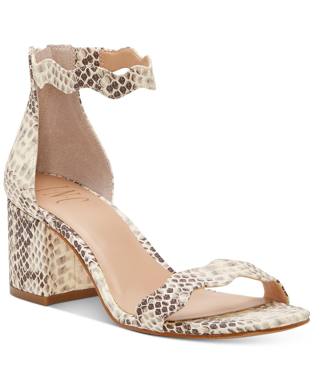 INC International Concepts Women's Hadwin Scallop Two-Piece Sandals