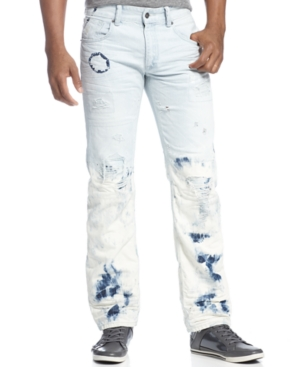 Rocawear Jeans Dazed Straight Fit Bleach Dye Jeans