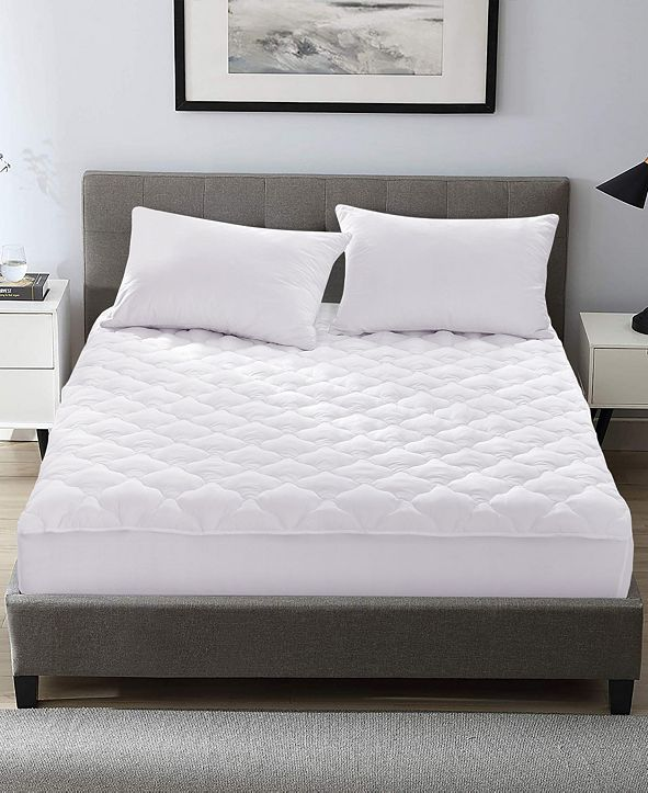 UNIKOME Four Leaf Clover Quilted Down Alternative Mattress Pad, Full