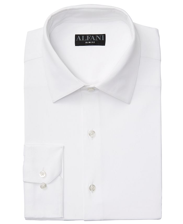Alfani - Men's Slim-Fit 4-Way Performance Stretch Wrinkle-Resistant Dress Shirt