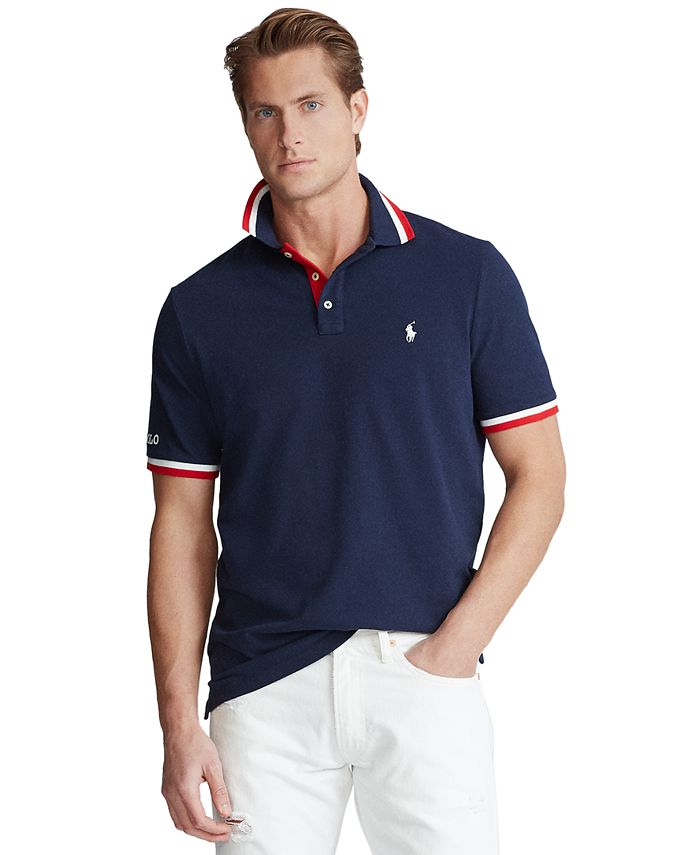 Polo Ralph Lauren Men's Custom Slim Fit Mesh Polo Shirt & Reviews ...