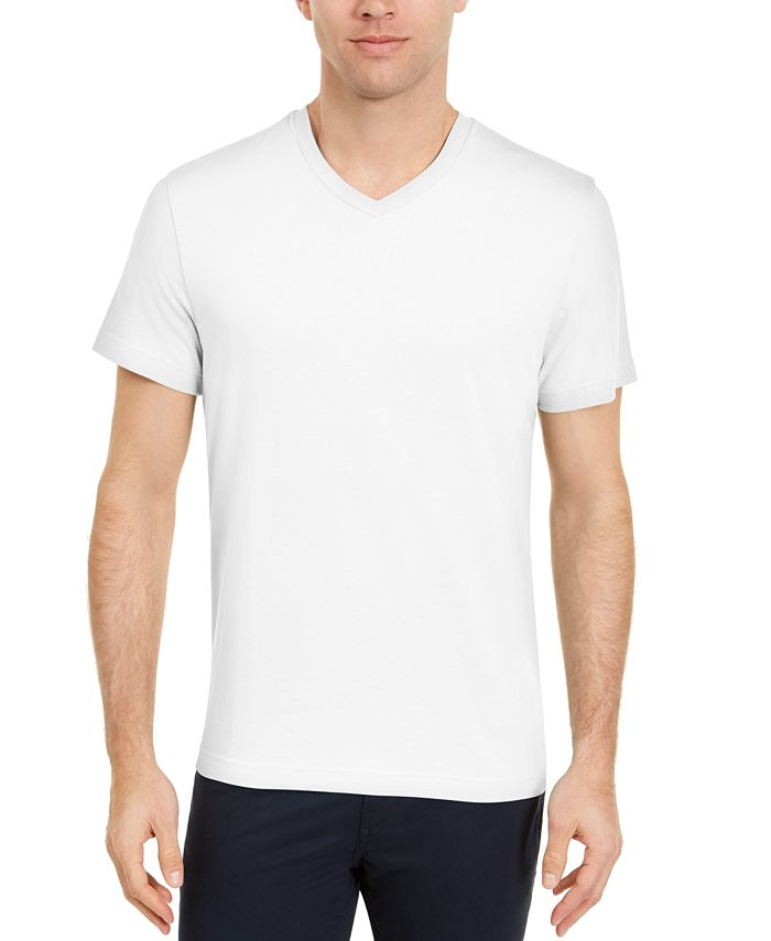 Club Room - Men's Solid V-Neck T-Shirt
