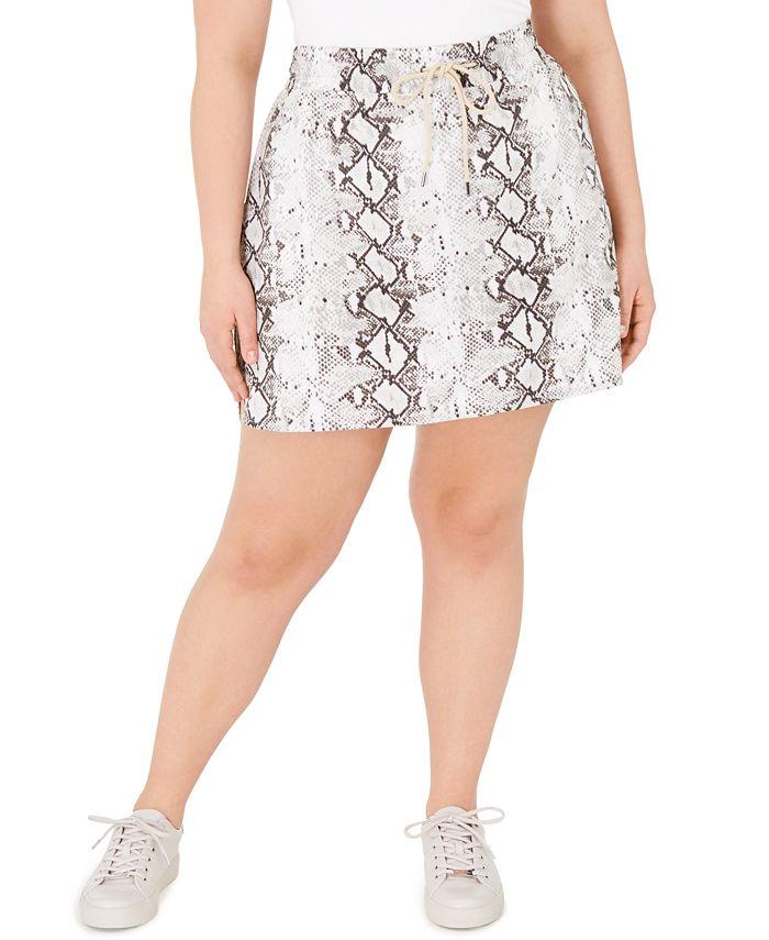 Ideology - Plus Size Snakeskin Print Skirt