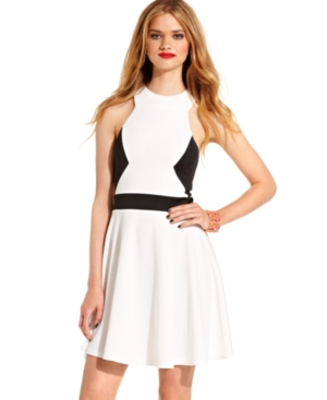 Miss Chievous Juniors Dress, Sleeveless Colorblock Cutout Skater $ 39.00