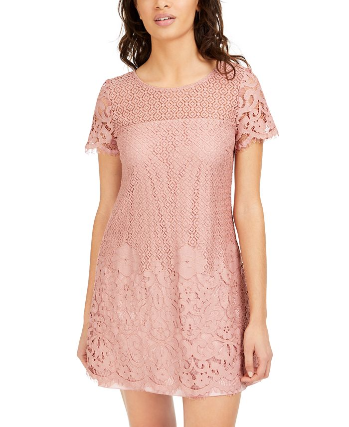 Speechless - Juniors' Lace Shift Dress