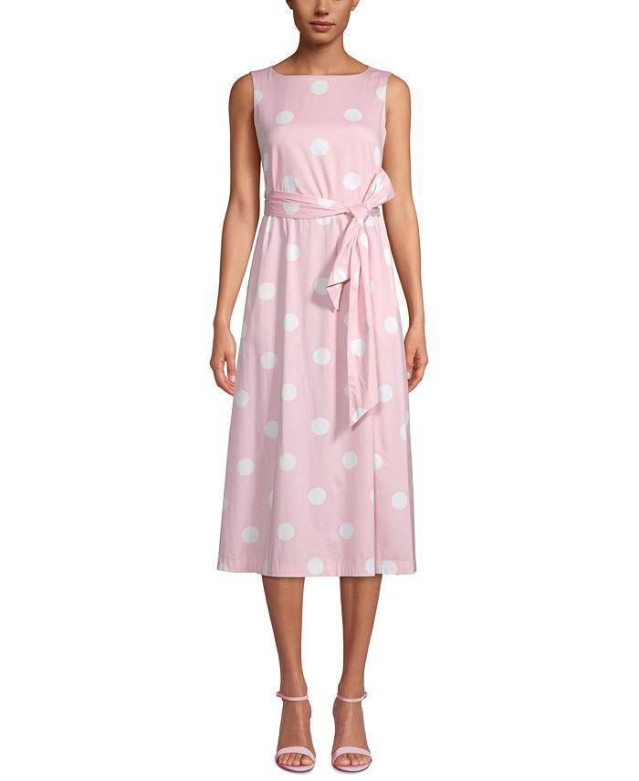 Anne Klein - Printed Sleeveless A-Line Dress