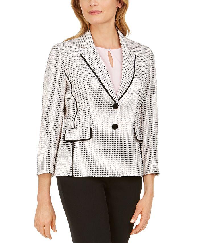 Kasper - Tweed Two-Button Jacket