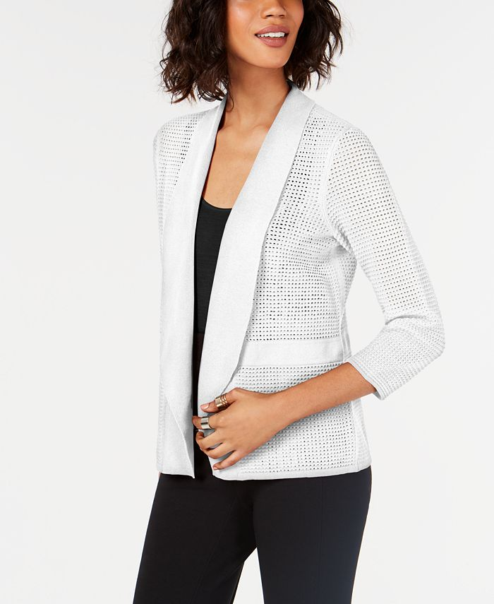 Alfani - Open-Knit Linen-Blend Cardigan
