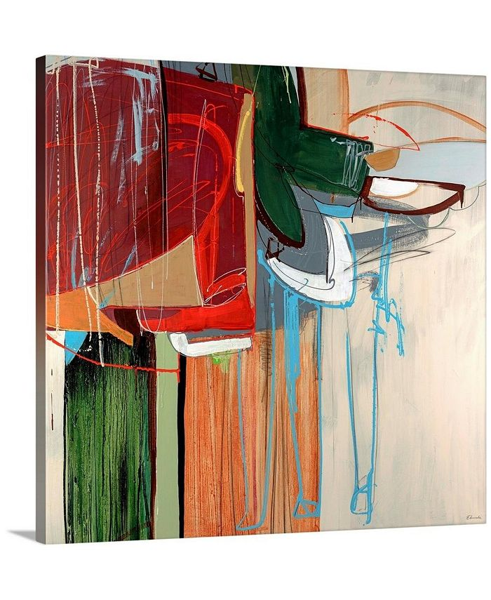 "GreatBigCanvas - 36 in. x 36 in. ""Kink"" by  Sydney Edmunds Canvas Wall Art"