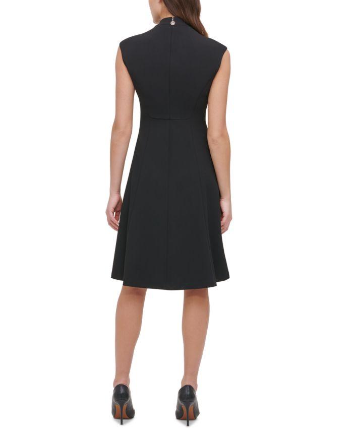 Tommy Hilfiger Scuba Fit & Flare Dress  & Reviews - Dresses - Women - Macy's