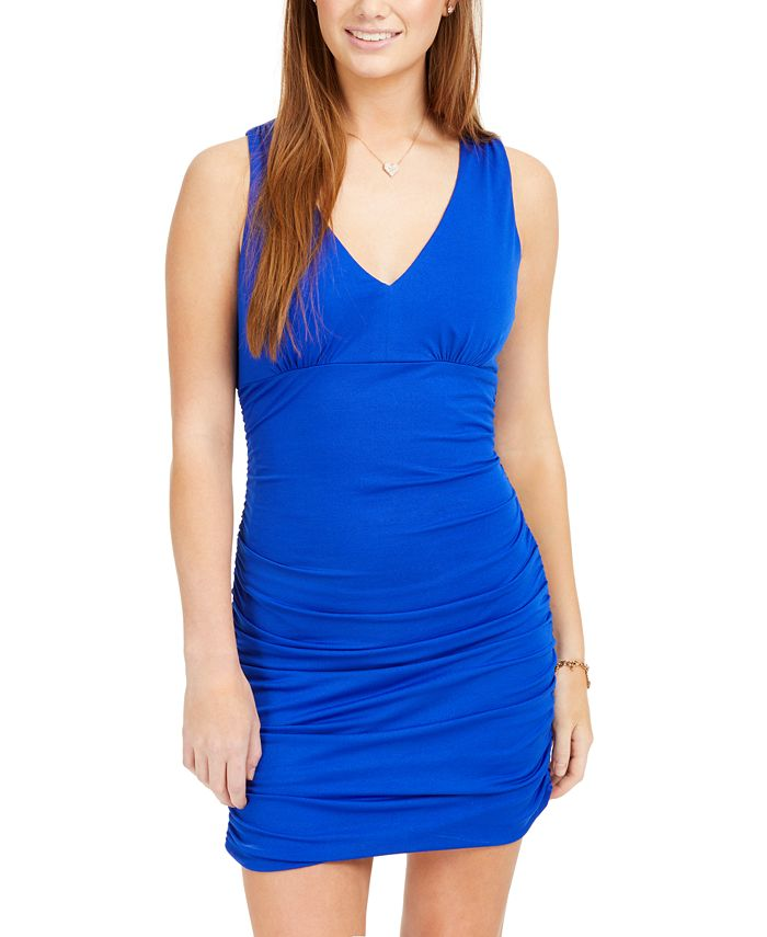 Teeze Me - Juniors' Ruched Bodycon Dress