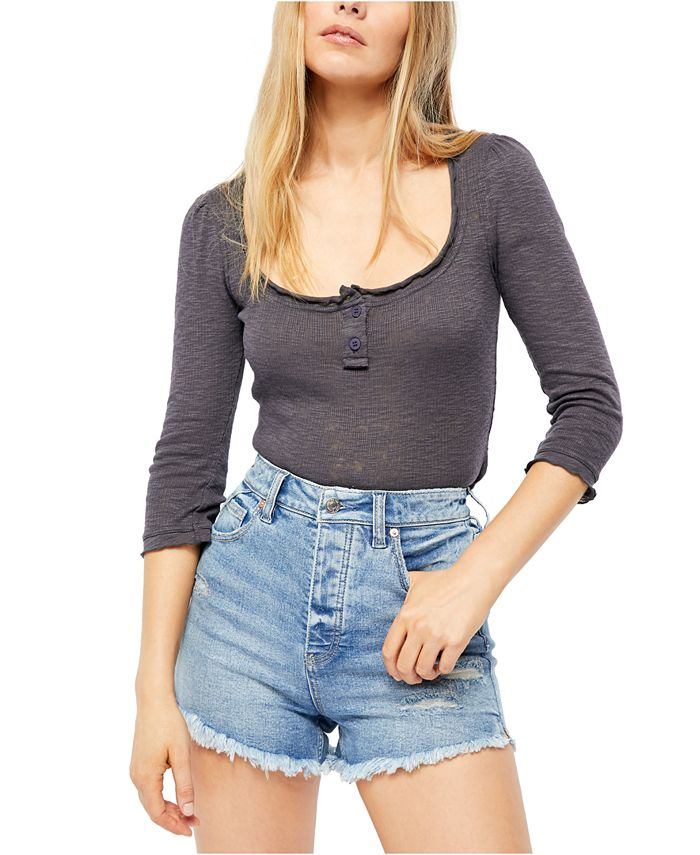 Free People - Jaimie 3/4-Sleeve Henley