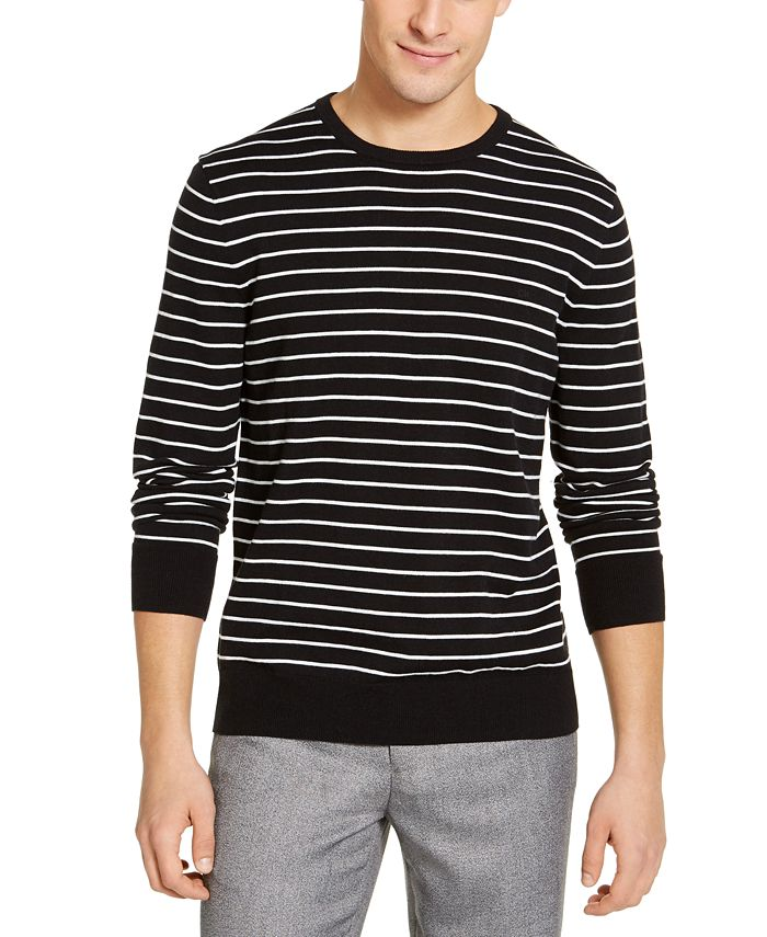 Calvin Klein - Men's Striped Liquid Sweater