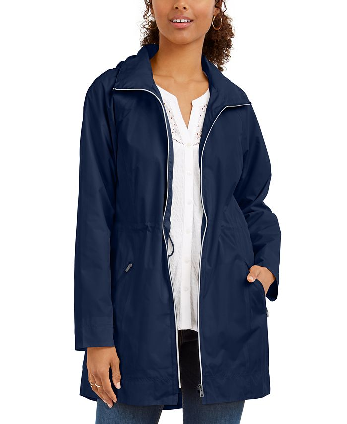Style & Co - Packable Hooded Anorak Jacket