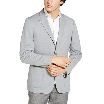 Calvin Klein Mens Slim-Fit Knit Sport Coat