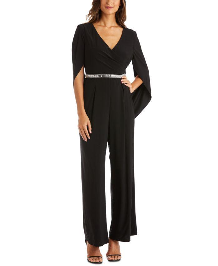 R & M Richards Embellished Draped-Back Jumpsuit & Reviews - Pants & Leggings - Women - Macy's