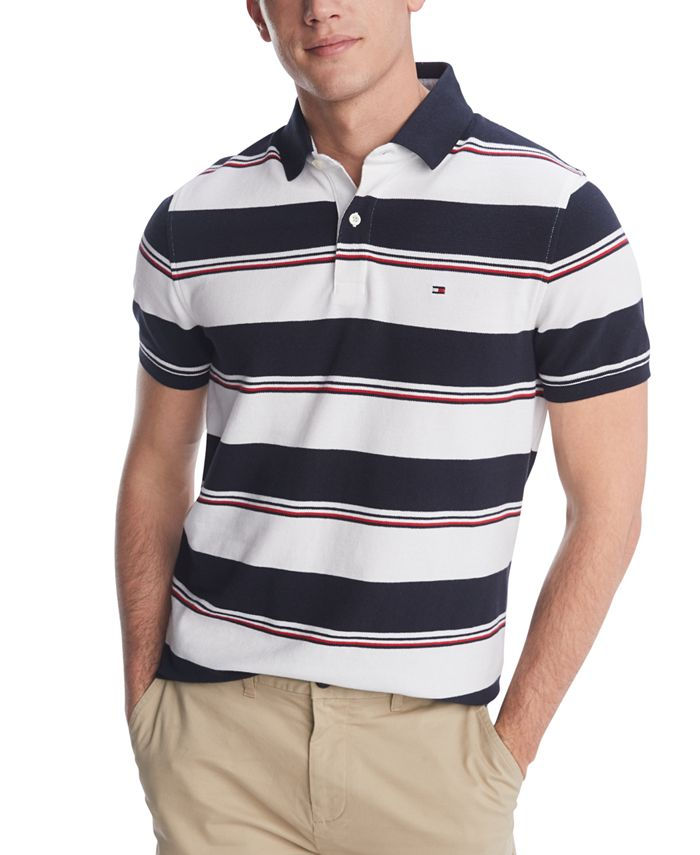 Tommy Hilfiger Men's Morrison Stripe Polo Shirt, Created for ...