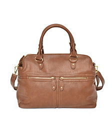 Imoshion Handbags Women's Slouchy Satchel with Zipper Detail and Removable Crossbody Strap