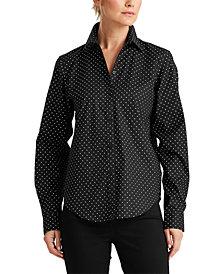 Lauren Ralph Lauren Polka-Dot Shirt