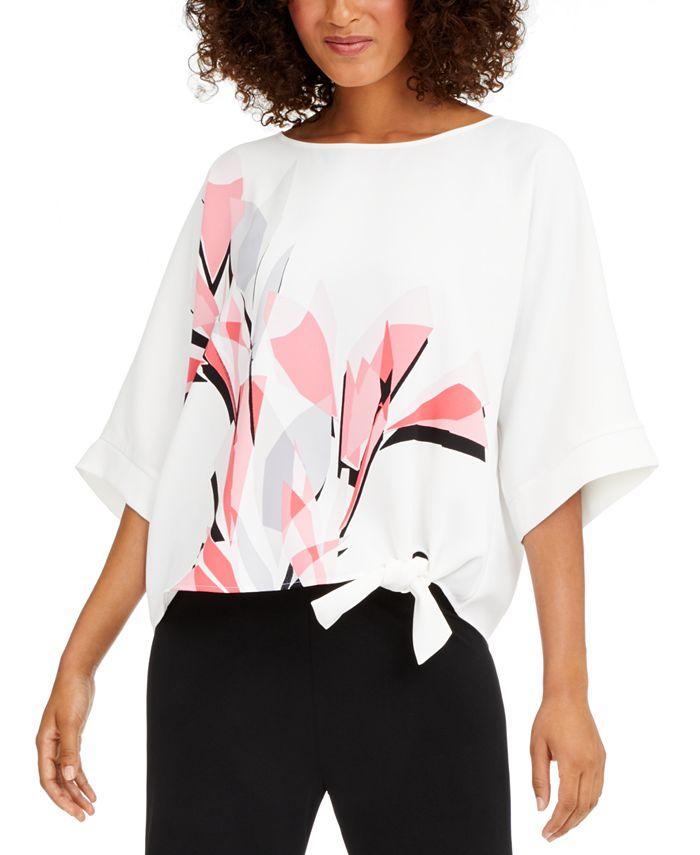 Alfani - Printed Side-Tie Top